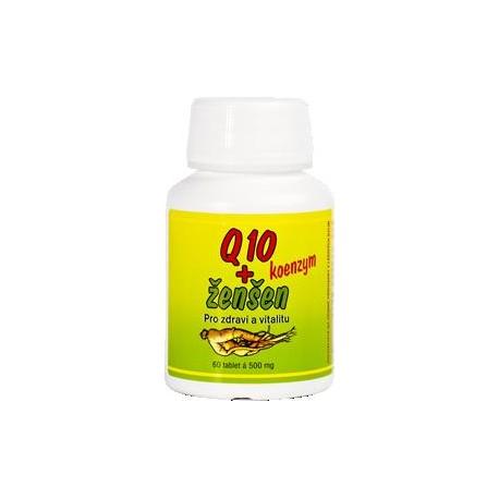 Q10 koenzym a ženšen